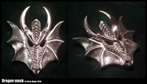 Sterling dragon mask pendant