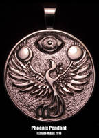 Sterling phoenix pendant by EagleWingGallery