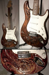 Eastern dragon guitar