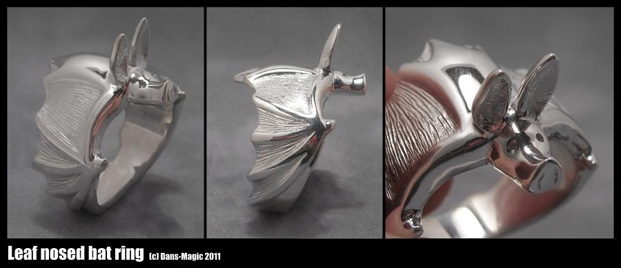 Leaf nosed bat ring by Dans-Magic