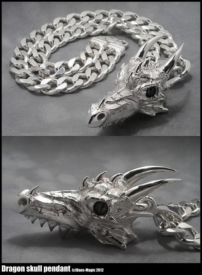 Dragon skull pendant by Dans-Magic