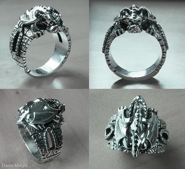 Crouching Garoyle ring by Dans-Magic