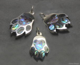 Paua Paw Pendant by EagleWingGallery