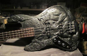 Werewolf Bass guitar - Complete - Body shot by EagleWingGallery