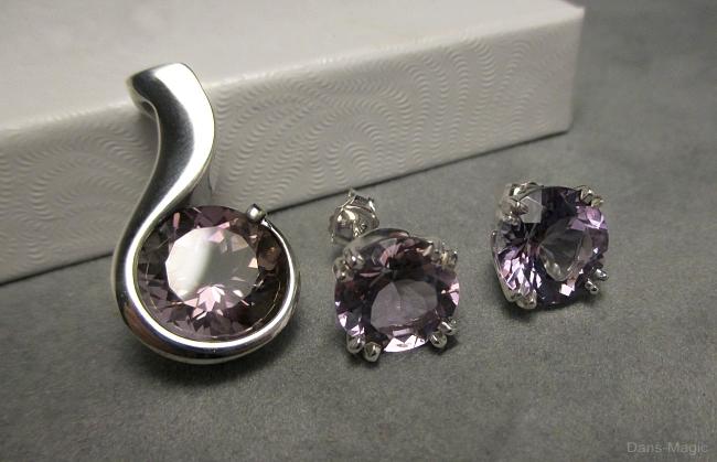 Ametrine pendant and earring set by Dans-Magic