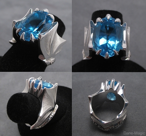 Topaz wing ring by Dans-Magic