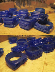 Pile of Auto Ring Waxes by EagleWingGallery