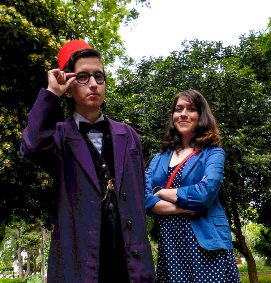 Doctor Who: Chin Boy and Souffle Girl by BasiliskRules