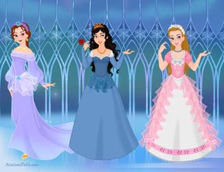 3 Princess Friends by AmericaMarten