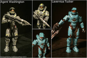 Washington and Tucker Painted Halo Action Figures