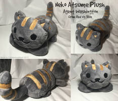 Agent Washington Inspired Neko Atsume Plush