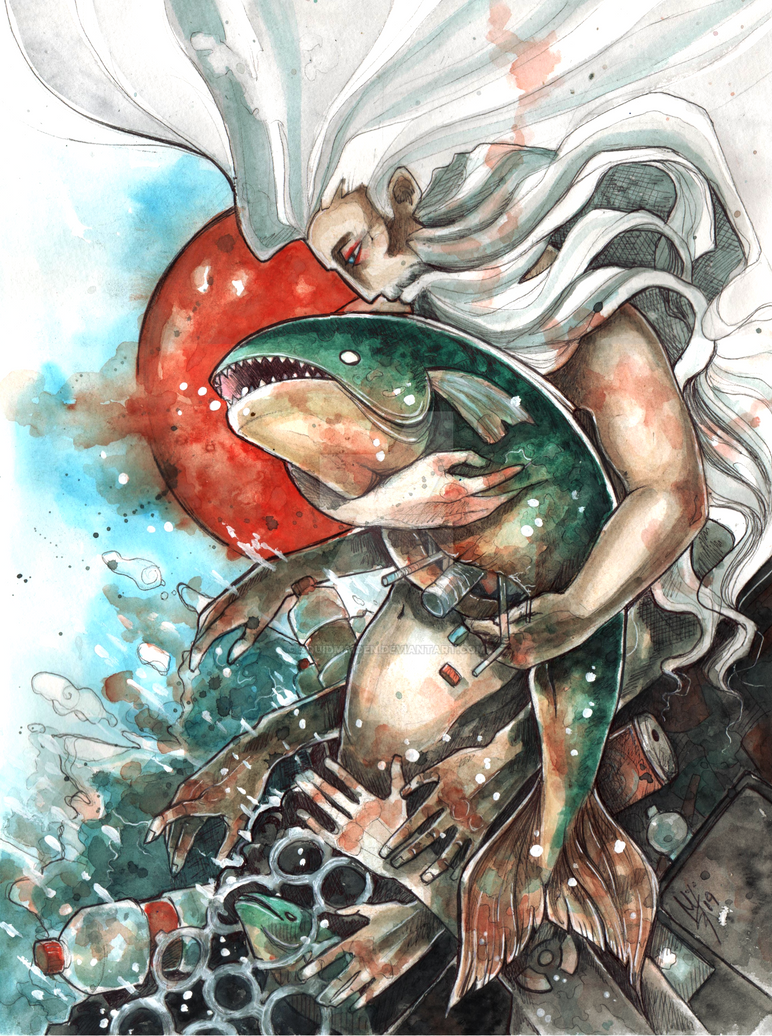 21st century Neptune by squidmaiden