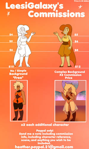 Commission Prices! by LeesiGalaxy