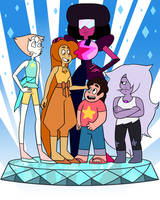 Topaz and the Crystal Gems! by LeesiGalaxy