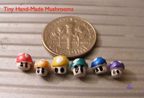 Mini-Mario-Mushrooms by SqueekyClean-801