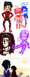 Super DC doodle dump by CrimsonEscapist