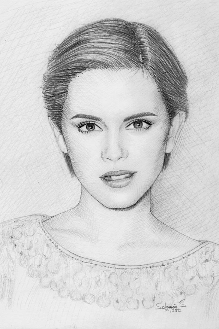 Emma Watson Drawing by salomnsm on DeviantArt