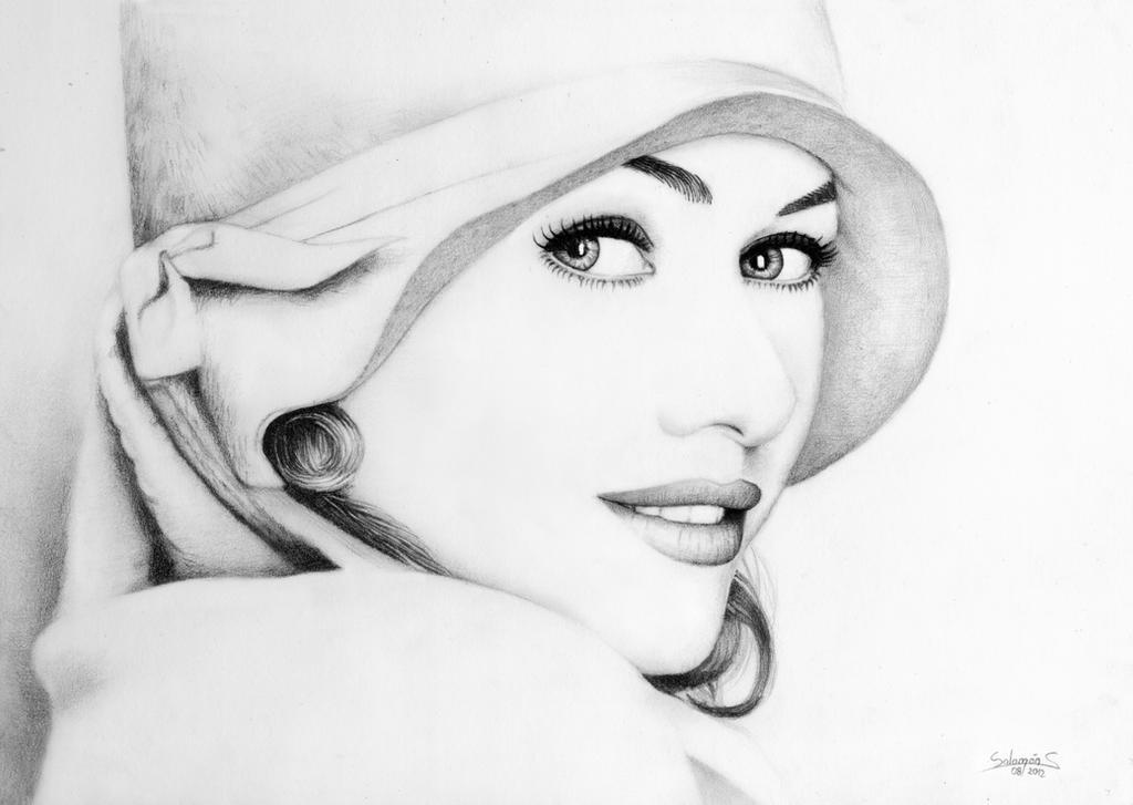 D Line Drawings Key : Naomi watts high key drawing by salomnsm on deviantart