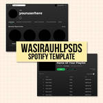 SPOTIFY TEMPLATE BY WASIRAUHLPSDS