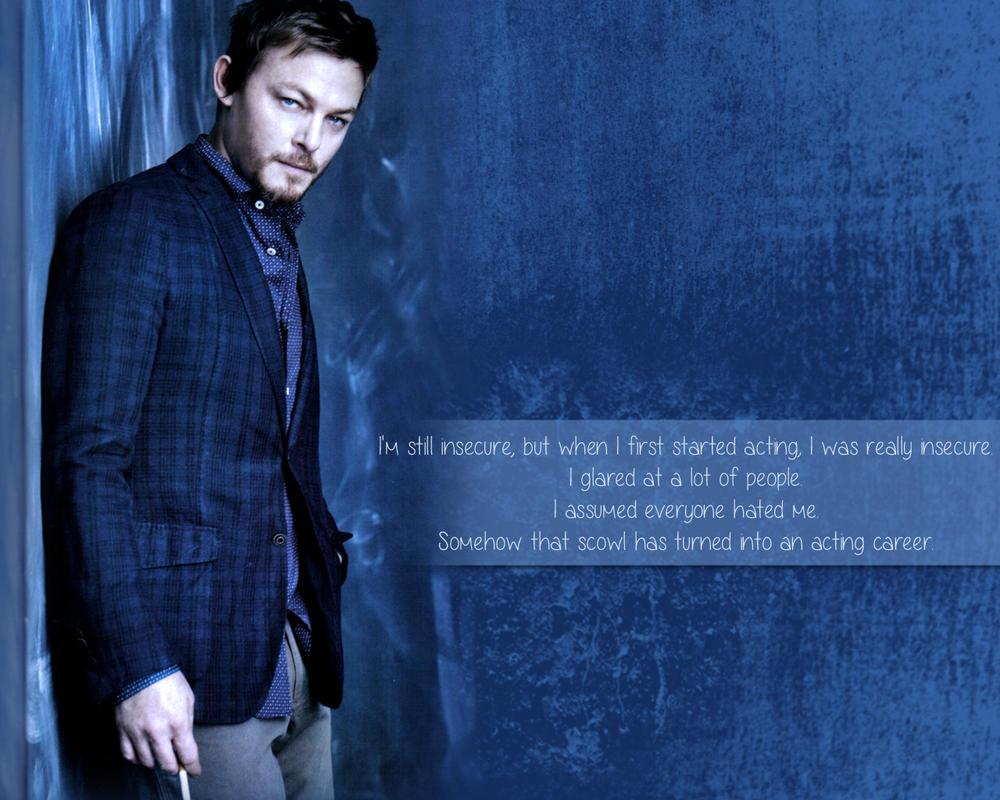 Norman Reedus Wallpaper Blue By Digikatdesigns