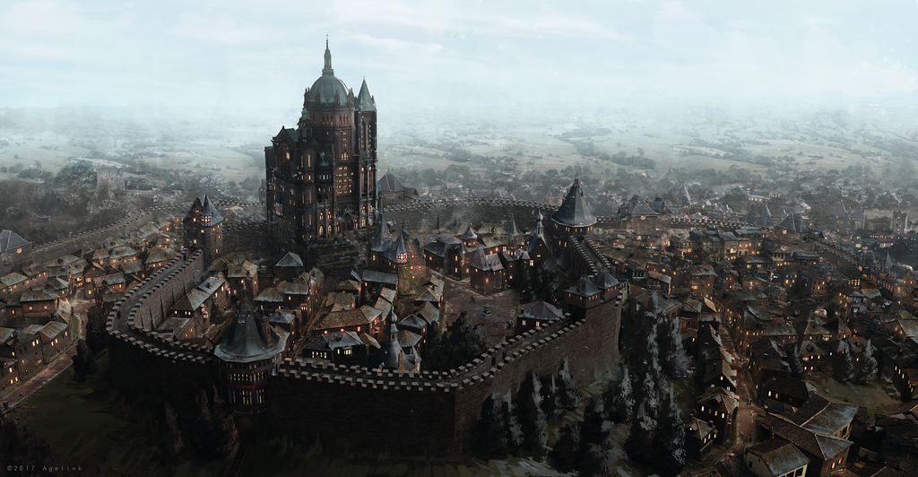 Medieval Town by Anepticus