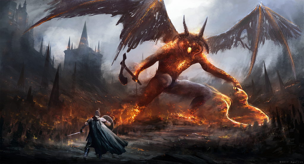 Gothmog vs Ecthelion by Anepticus