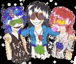 Partying Girls Trio