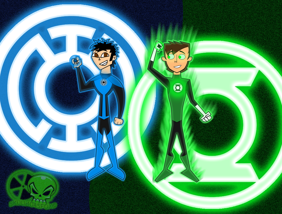 Lucky and Alex: Green and Blue by skull1045fox
