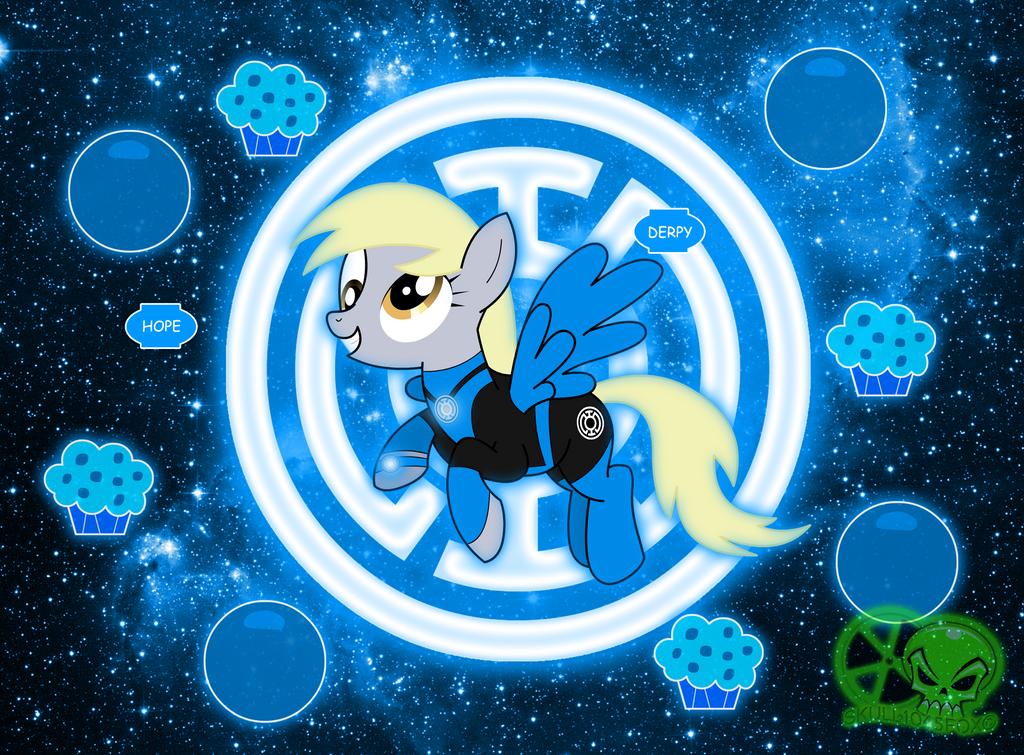Blue Lantern Derpy by skull1045fox