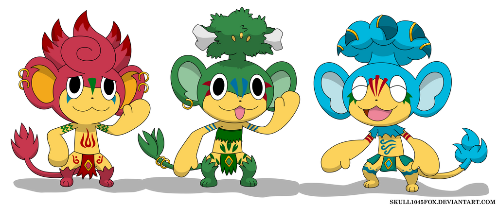 Pt The Monkey Trio By Skull1045Fox On Deviantart-4175