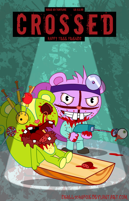 HTF Crossed Toothy by skull1045fox
