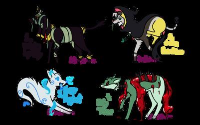 Halloween Monster Doggo Adopts 4/4 (Open) by AuttumntheGuardian