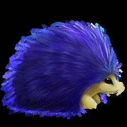 Casual Blue Hedgehog by AuttumntheGuardian