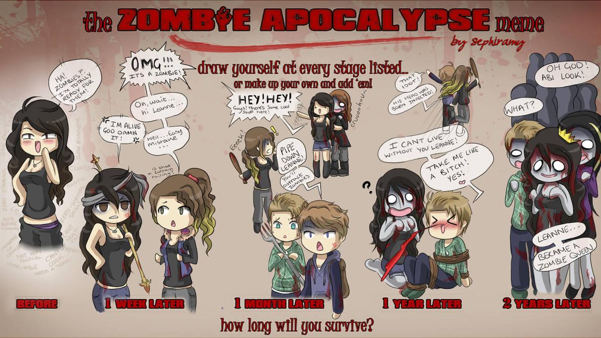 Zombie apocalypse meme by lapin670