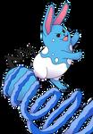 Pokemon Tribute Gen 2 - Azumarill Uses Aqua Tail by Jesteppi