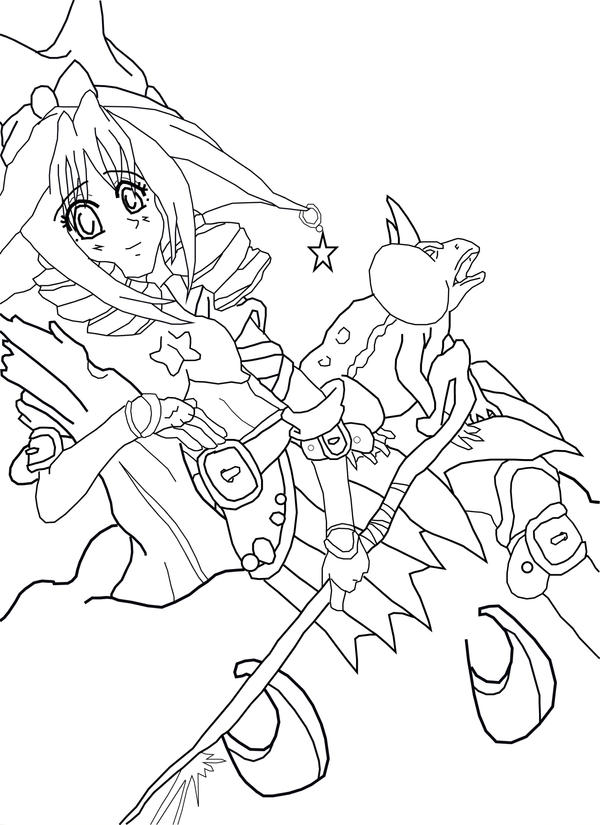 Line Art Halloween : Halloween witch line art by animejei on deviantart