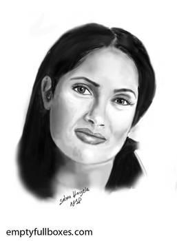 Salma Hayek Sketch