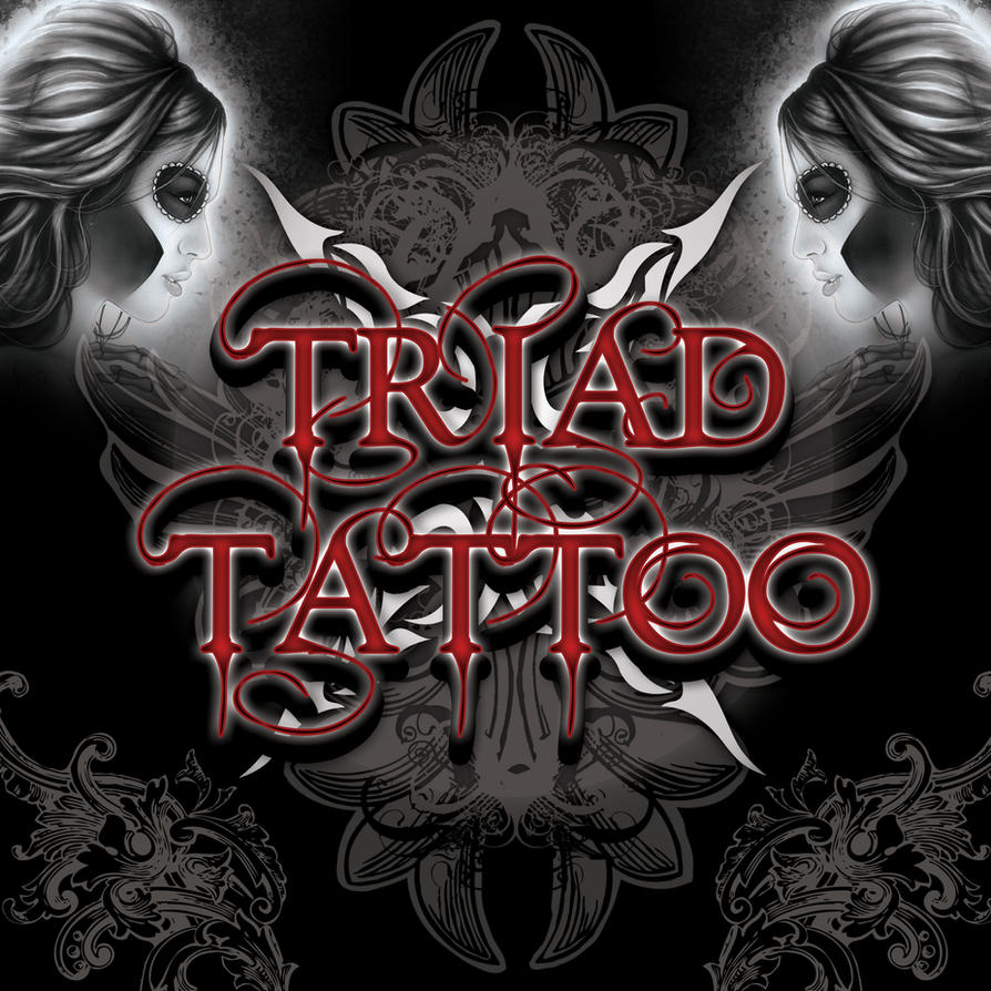 triad tattoo shop wall by giboy on deviantart. Black Bedroom Furniture Sets. Home Design Ideas