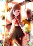 A shy school girl