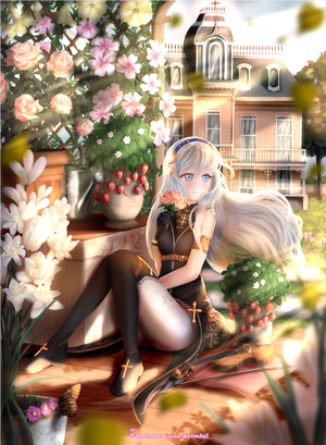 Sierra in the garden - commission by Gotenkai