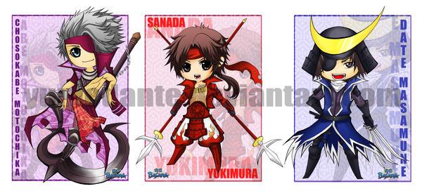 Sengoku Basara stickers by yuniedante