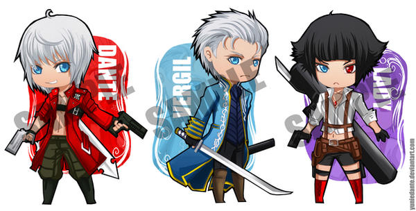 Devil May Cry 3 Stickers by yuniedante