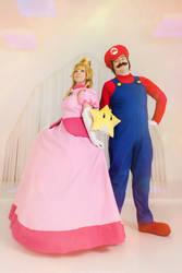 Super Mario Bros- Princess Peach and Mario