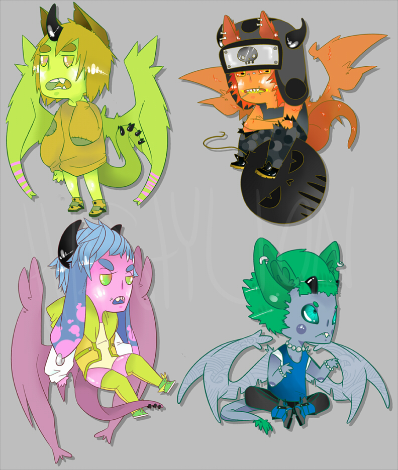 Dragon Doods batch 5 :: ONLY 1 OPEN by HastyLion
