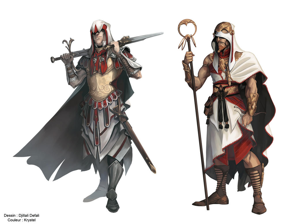 Assassin S Creed Characters Frenc Comic Books By Krystel Art On Deviantart