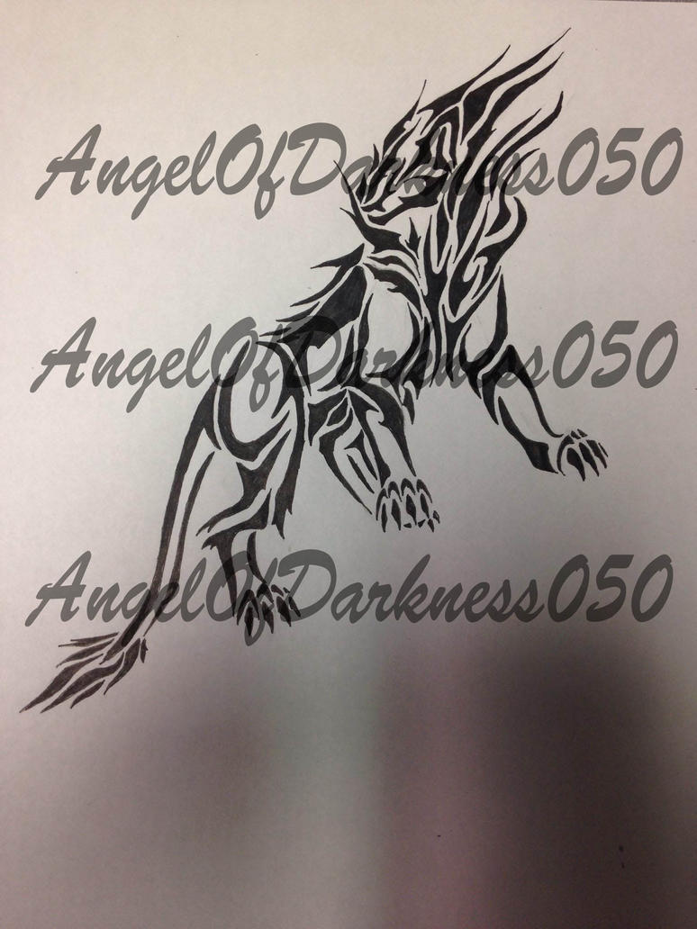 Lion Tribal Tattoo by AngelOfDarkness050