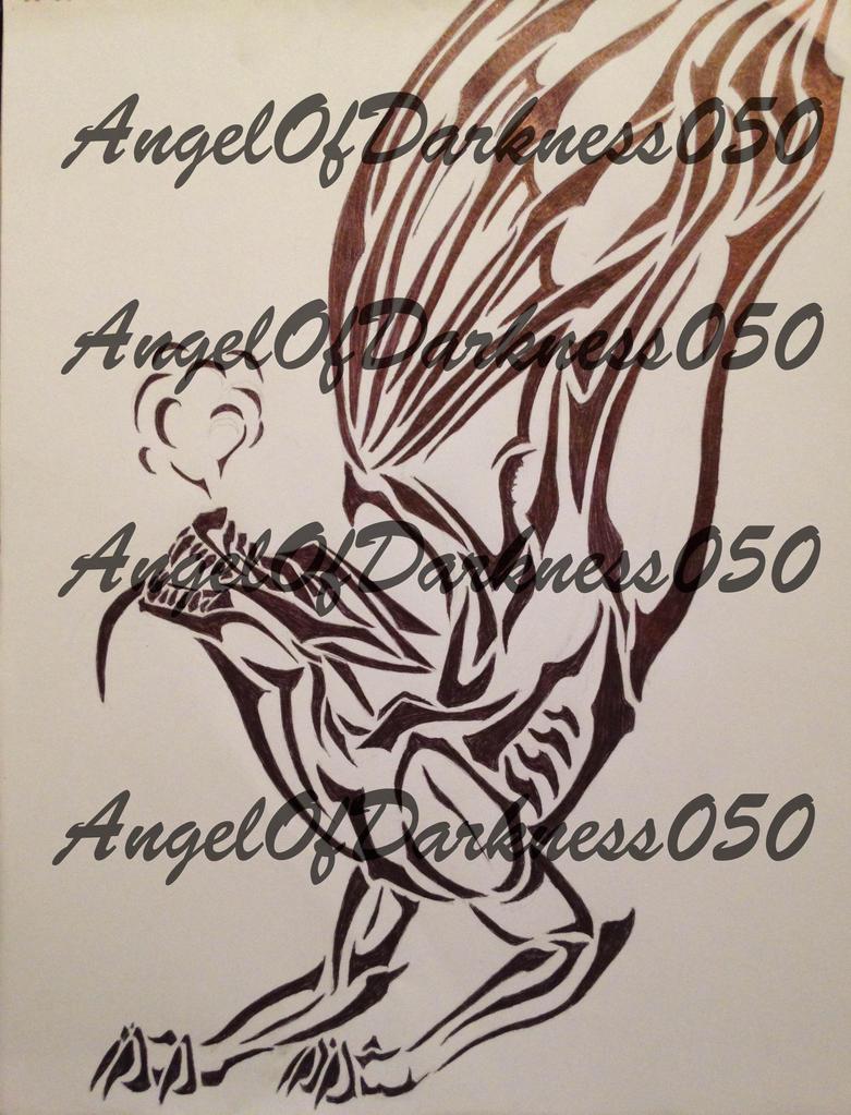 Dragon Tribal Tattoo by AngelOfDarkness050