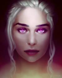 Violet Flame - Daenerys Stormborn by Oozart