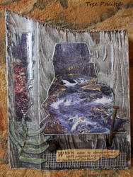 Waterfall Landscape Collage Barn Wood Wall Hanging
