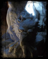 Sleeping Griffin Gargoyle by TreePruitt